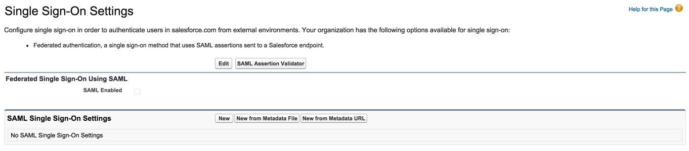 salesforce sso enable SAML